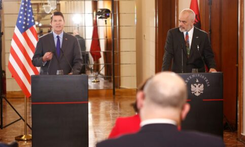 Krach and Albania Prime Minister Rama hold Clean network press conference