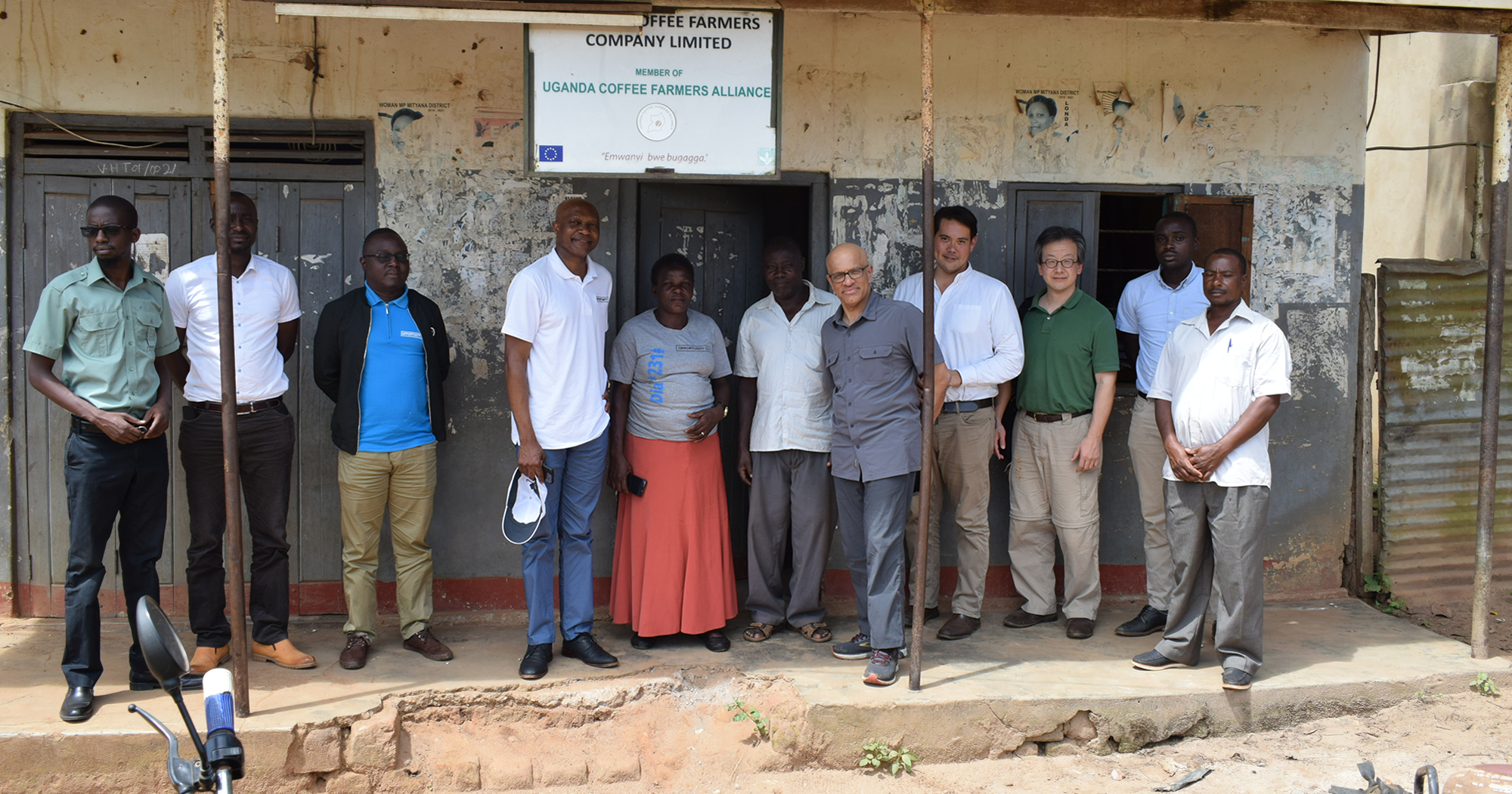 Atul Tandon working with Uganda coffee farmers