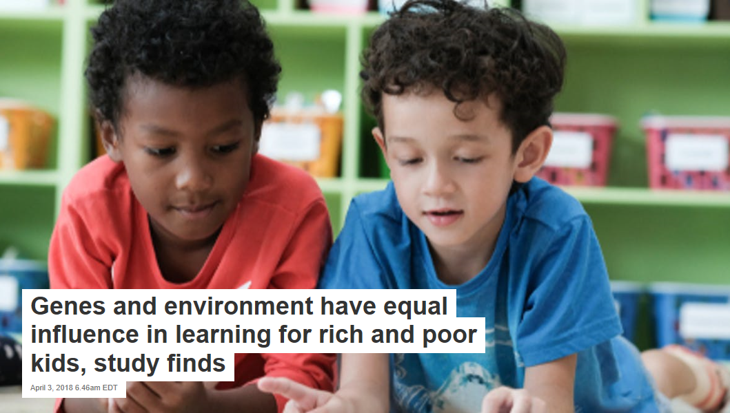 When Rich And Poor Learn Together Kids >> Genes And Environment Have Equal Influence In Learning For Rich And
