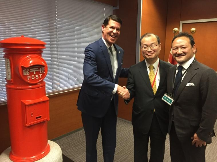 Krach with Chairman of Japan Post discussing DocuSign's entry into the Japanese market