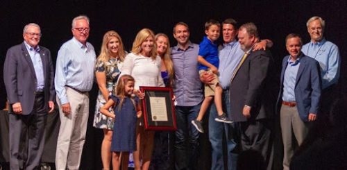 Keith Krach, '79 (fourth from right), alongside members of his family, was honored with a resolution renaming Sigma Chi's annual Leadership Training Workshop as the Krach Transformational Leaders Workshop