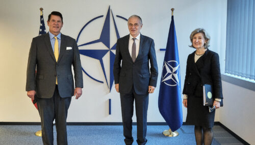 Under Secretary Krach with NATO Deputy Secretary General Mircea Geoana.