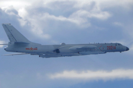 During the 2 days of Krach's visit, 40 Chinese fighters and bombers flew missions crossing the sensitive median line of the Taiwan Strait.
