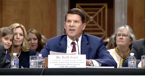 Krach outlines his 3-part strategy for dealing with the China Challenge during his Senate confirmation hearing.