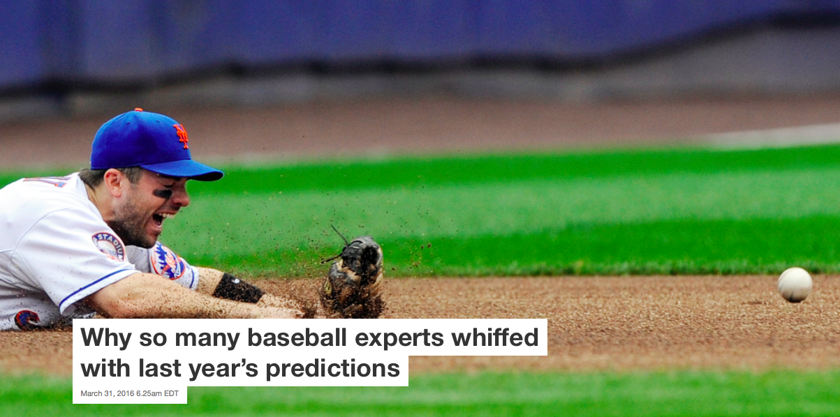 Why so many baseball experts whiffed with last year's predictions