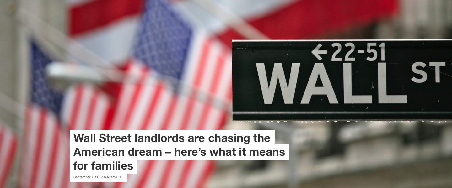 Wall Street landlords are chasing the American dream – here\'s what ...