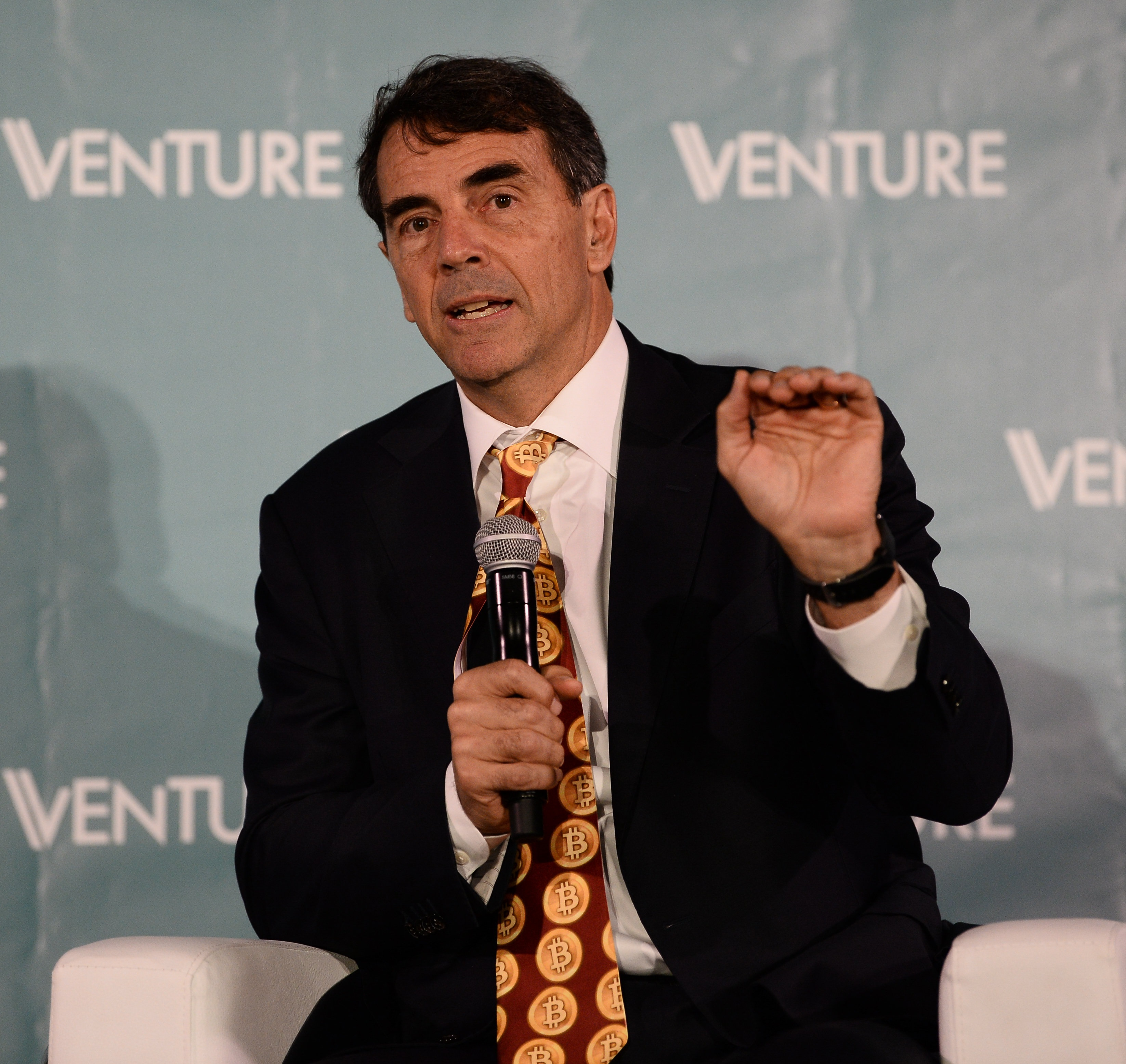 Tim Draper, DFJ, at Venture Summit 2017 Photo by Diarmuid Greene/Web Summit via Sportsfile