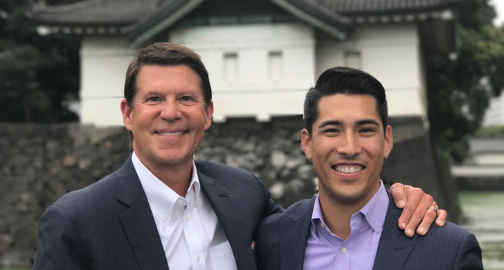 Krach and his chief of staff, Hiro Rodriguez, at the Imperial Palace – Tokyo, Japan