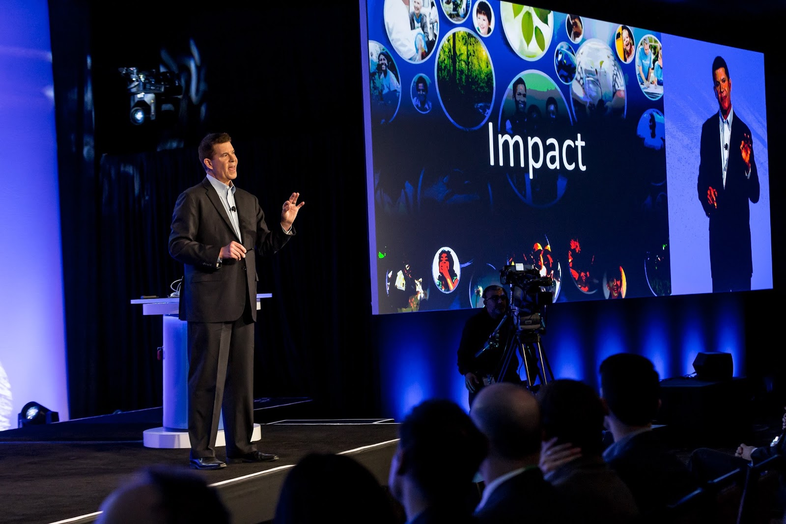 Krach announcing the formation of the Impact Foundation at Momentum, March 15, 2015