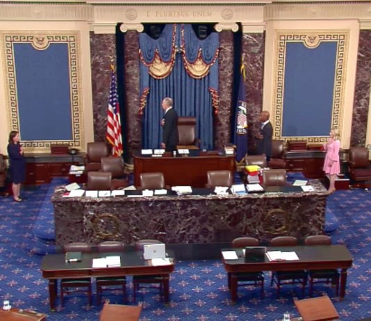 The US Senate Floor on the morning of Keith Krach's senate confirmation on June 20th, 2019