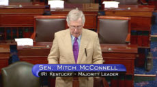 Senate Majority Leader Mitch McConnell (R) Kentucky asks the US Senate for unanimous consent during consideration for Keith Krach's confirmation vote on the afternoon of June 20th, 2019